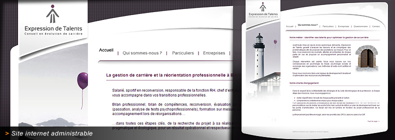 Site internet d'Expression de Talents