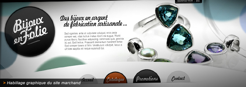 tout neuf bd6ac 4f2dc Bijoux en Folie | Habillage graphique du site marchand de ...
