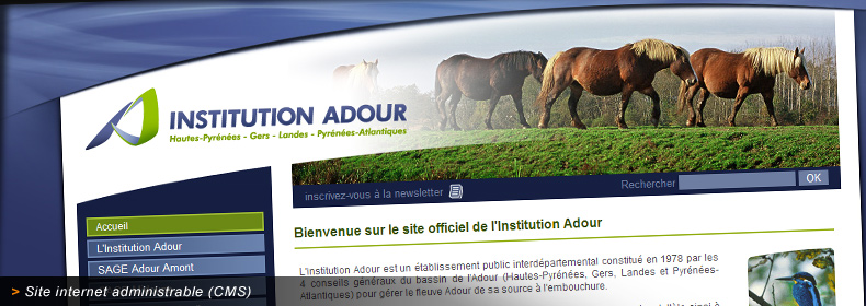 Site internet de l'Institution Adour et de ses missions